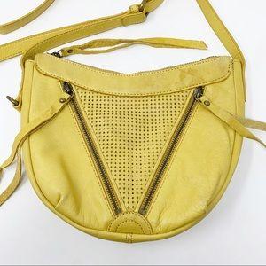 Lucky Brand Yellow Leather Crossbody Bag